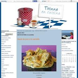 SAUTE DE PORC à la sarriette - Titine cuisine pour sa petite famille