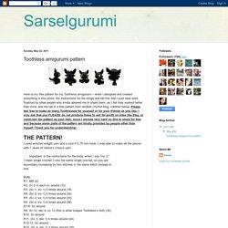 Sarselgurumi: Toothless amigurumi pattern