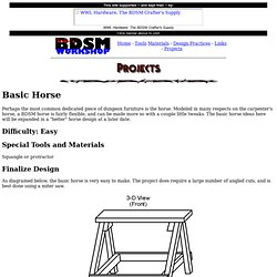 Sartan's BDSM Workshop: Projects: Basic Horse
