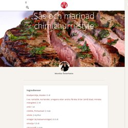 Sås och marinad chimichurri-style