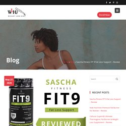 Sascha Fitness FIT 9 Fat Loss Support - Review - Weight Loss Hint