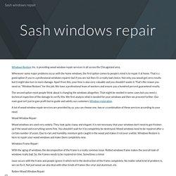 Sash windows repair