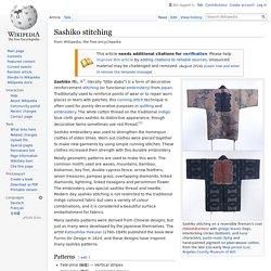 Sashiko stitching - Wikipedia