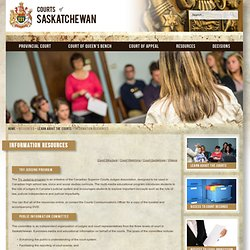 Saskatchewan Law Courts - Information Resources
