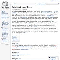 Saskatoon freezing deaths