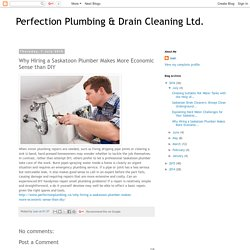 Why Hiring a Saskatoon Plumber Makes More Economic Sense than DIY