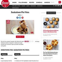 Saskatoon Pie Fries Recipes