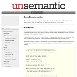 Sass Documentation
