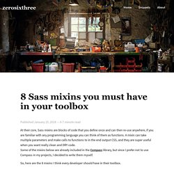 8 Sass mixins you must have in your toolbox