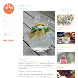 sassy water — A Sweet Simple Life