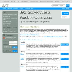 SAT Subject Practice Section