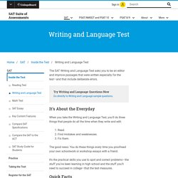 SAT Writing and Language Test