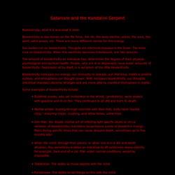 Satanism and the Kundalini Serpent