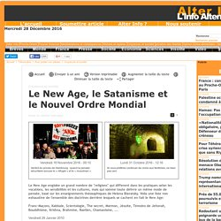 Le New Age, le Satanisme et le Nouvel Ordre Mondial