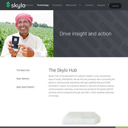 Skylo's satellite network connects machines & sensors everywhere