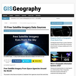 15 Free Satellite Imagery Data Sources - GIS Geography