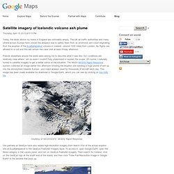Satellite imagery of Icelandic volcano ash plume