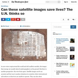 Can these satellite images save lives? The U.N. thinks so