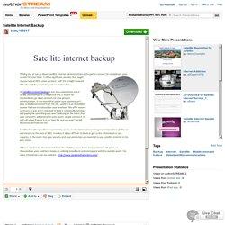 Satellite Internet Backup