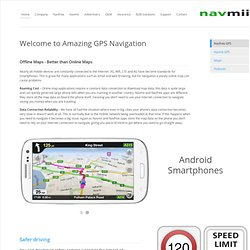 Navfree Latest Satellite Navigation Software for iPhone, iPad and Android