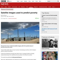 Satellite images used to predict poverty