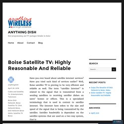Boise Satellite TV: Highly Reasonable And Reliable