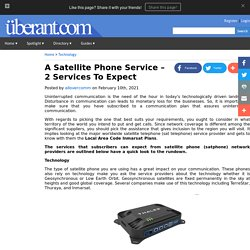 A Satellite Phone Service 2 Services To Expect