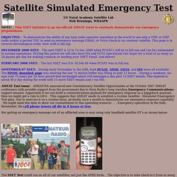 Satellite Simulated Emergency Test