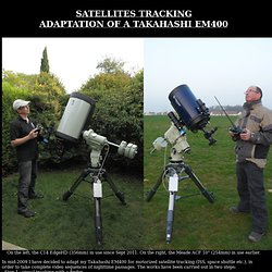 Thierry Legault - Satellite tracking telescope