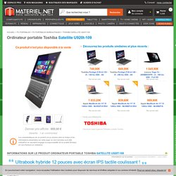 Satellite U920t-109 - Toshiba
