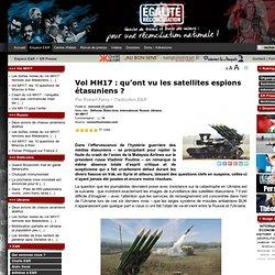 Vol MH17 : qu'ont vu les satellites espions étasuniens