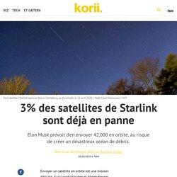 3% des satellites de Starlink sont déjà en panne