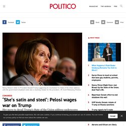 'She's satin and steel': Pelosi wages war on Trump
