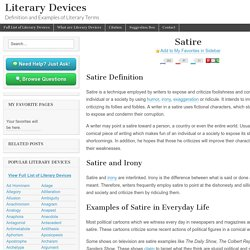 Satire - Examples and Definition of Satire