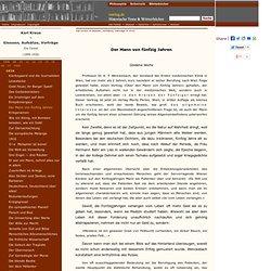 Karl Kraus - Satire: Der Mann von fünfzig Jahren - Goldene Worte