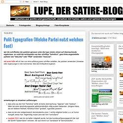 Polit-Typografien (Welche Partei nutzt welchen Font)