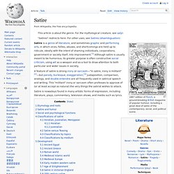 satire essay on television Satire examples can help you to better understand this literary device examples of satire on tv examples of satire on tv.