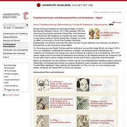 UB Heidelberg: Französische Kunst- und Satirezeitschriften und Karikaturen – digital