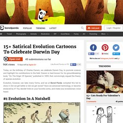 15+ Satirical Evolution Cartoons To Celebrate Darwin Day