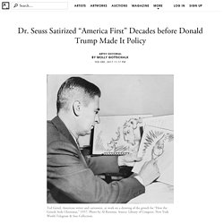 "Dr. Seuss Satirized ""America First"" Decades before Donald Trump Made It Policy"