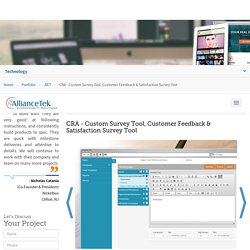 Customer Feedback Survey Tools, Customer Satisfaction Survey Software - AllianceTek Portfolio