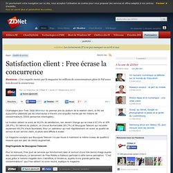 Satisfaction client : Free écrase la concurrence