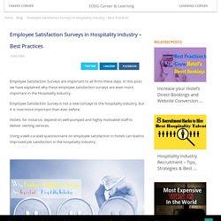 Employee Satisfaction Surveys in Hospitality industry - Best Practices
