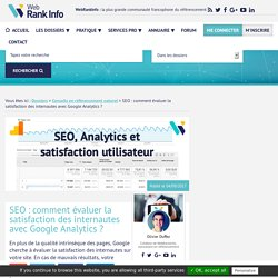 SEO : comment évaluer la satisfaction des internautes avec Analytics ?