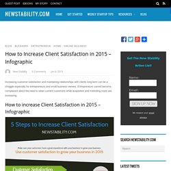 How to Increase Client Satisfaction in 2015 - Infographic - NewStability.com