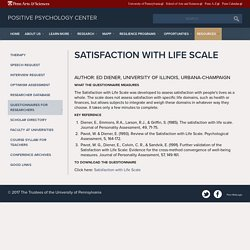 Satisfaction with Life Scale
