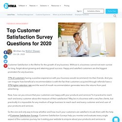 Top Customer Satisfaction Survey Questions for 2020