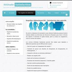Enquête de satisfaction salariés, Enquête RH (ressources humaines)