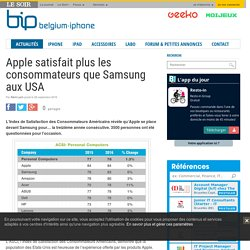 Apple satisfait plus les consommateurs que Samsung aux USA