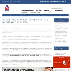 Cenforce: Effective Way To Deal With ED In Men